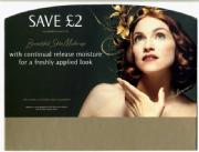 MAX FACTOR SKIN MAKE UP - UK PROMO DISPLAY BOARD HEADER